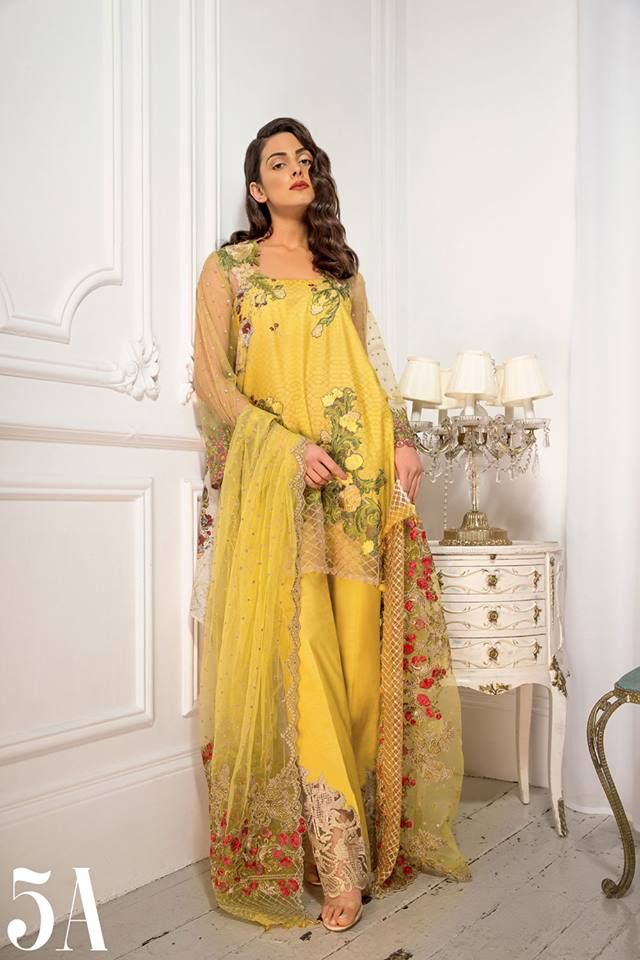 Sobia Nazir Yellow Floral Latest Eid Collection