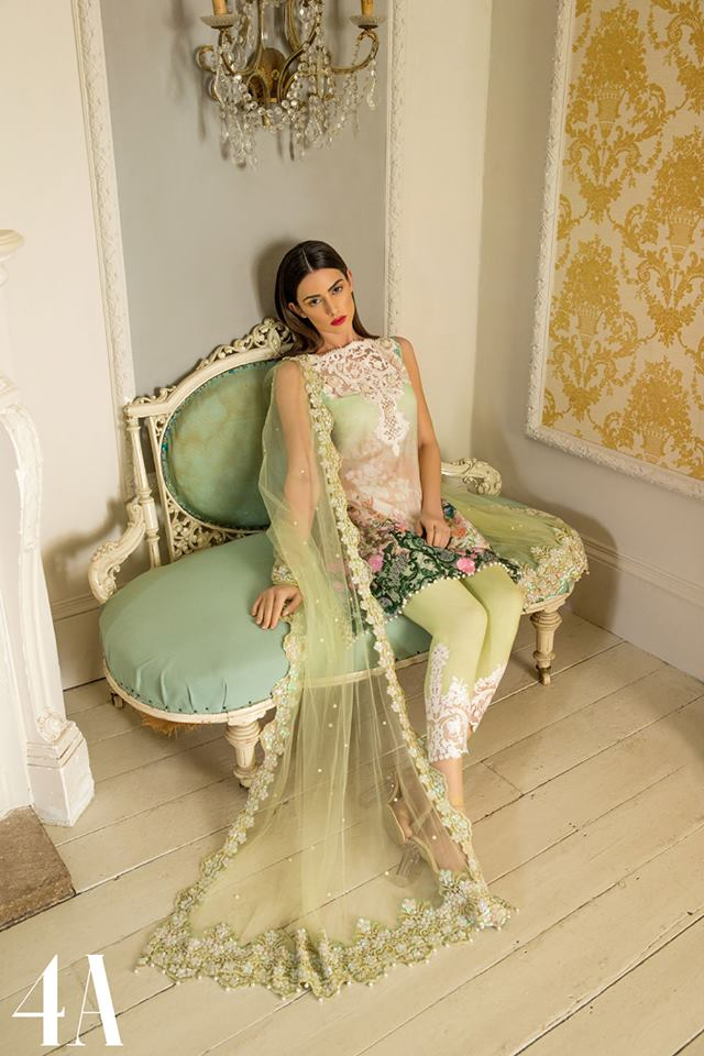 Sobia Nazir Lime Green Latest Eid Collection