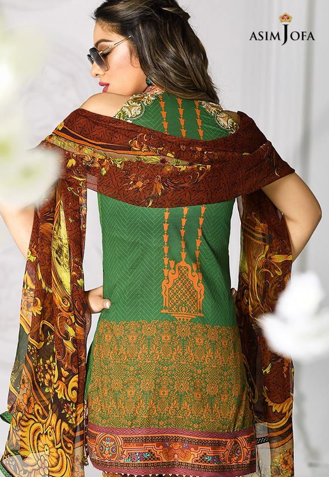 Asim Jofa Dark Green Latest Eid Collection