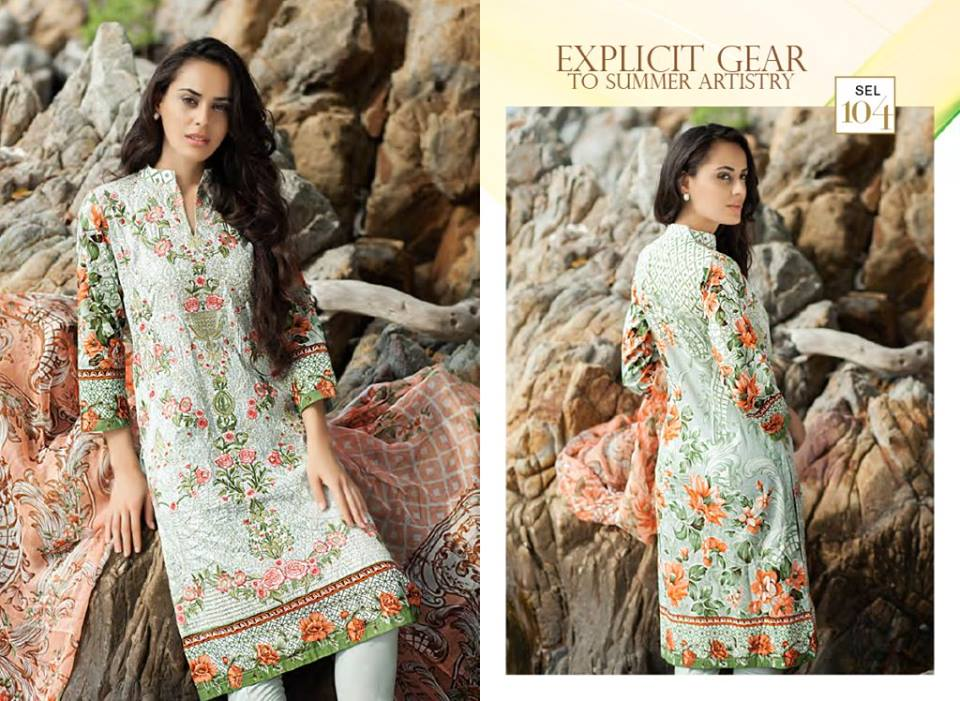 Floral White Shaista Latest Embroidered Collection 2017