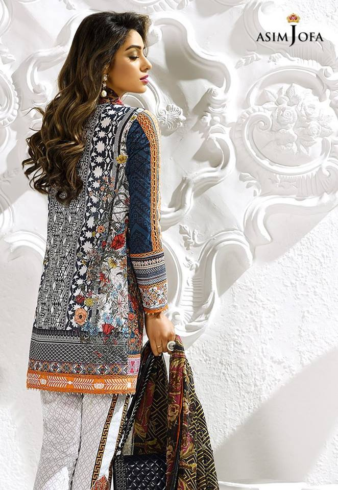 Asim Jofa Black n White Latest Eid Collection
