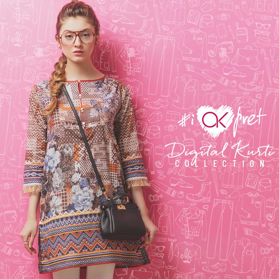 Digital Kurti Alkaram Latest Kurti Collection 2017