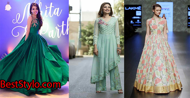 Pakistani Party Dresses and Frock Designs