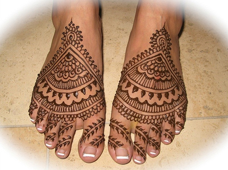 Turkish Wedding Mehndi Design for Feet
