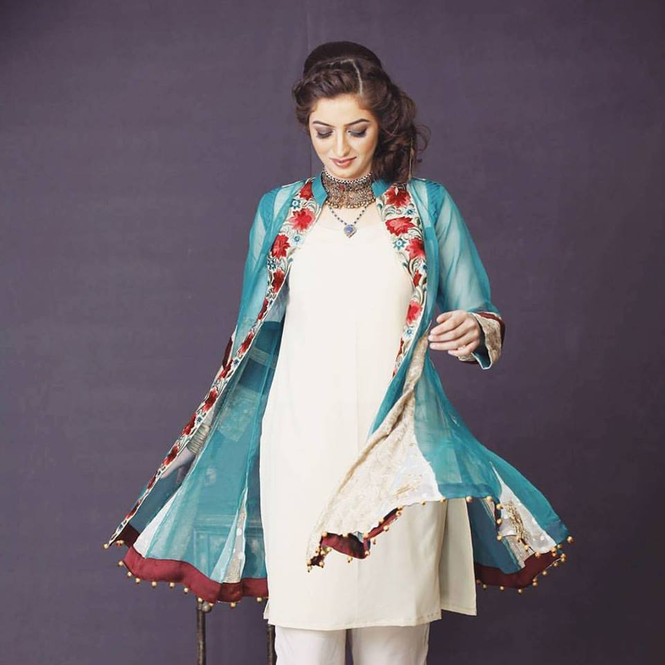 Zahra Ahmed Aqua Green Eid Collection