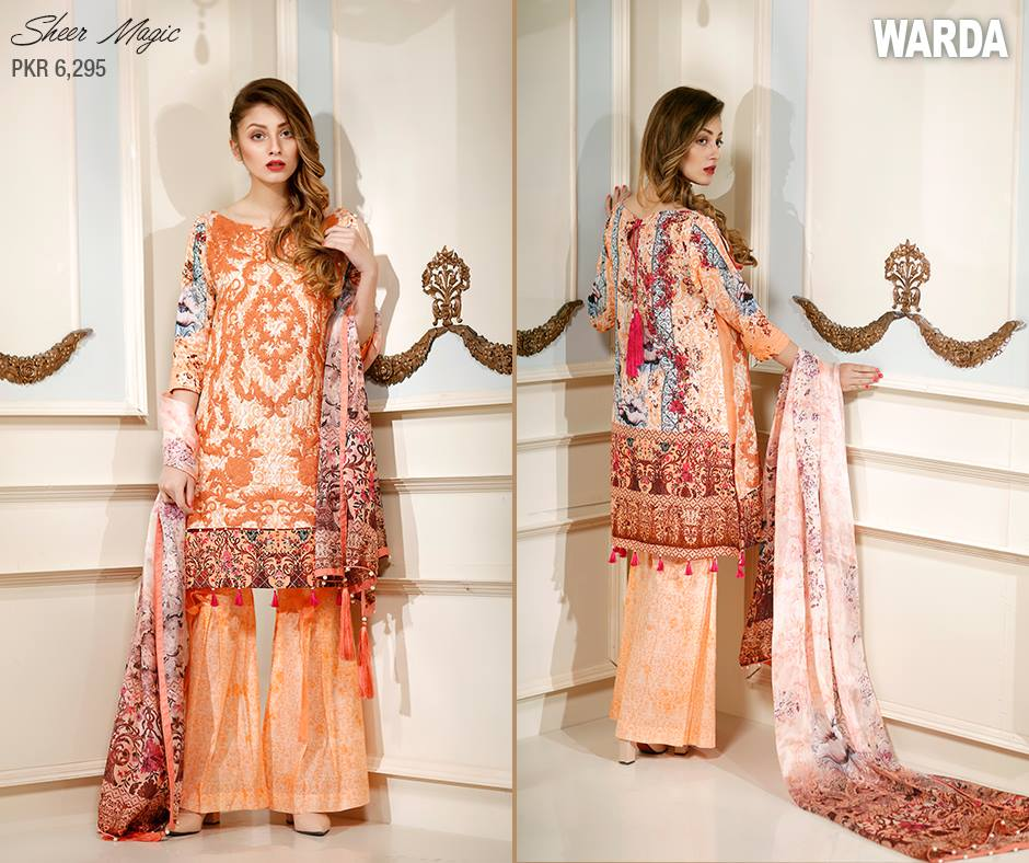 Orangish Warda Latest Eid Collection 2017
