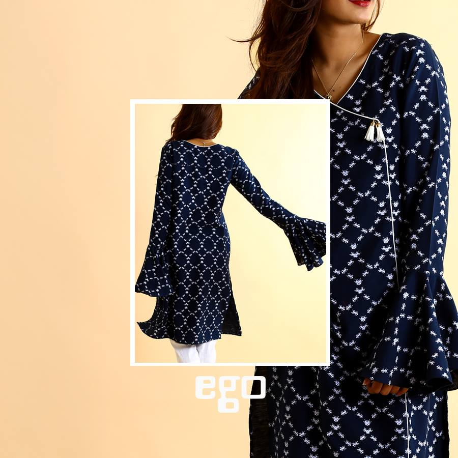 Ego Blueish Print Ready to wear For Eid