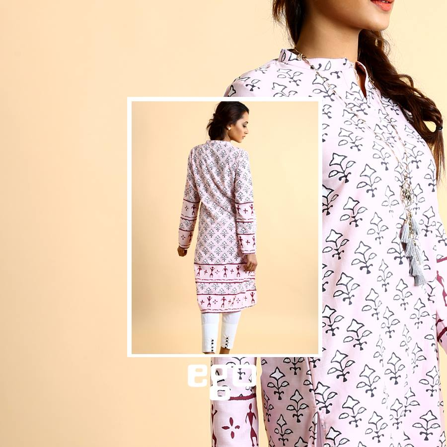 Purplish White Ego Ready to wear for Eid