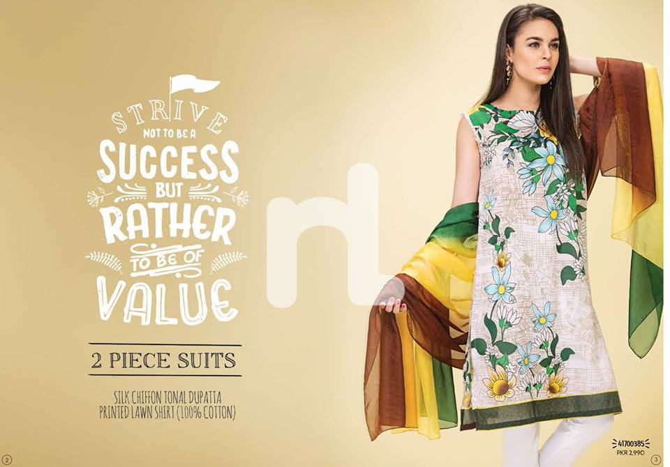 Nishat off white Printed Lawn 2pc for Eid
