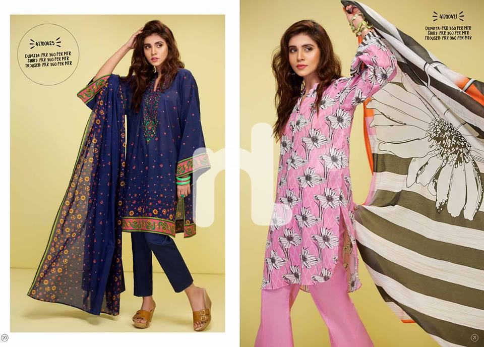 Nishat Pink OR Blue Your Choice For Eid