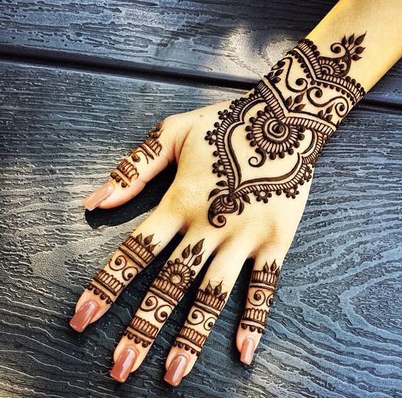 unique eid mehndi design for new bridals