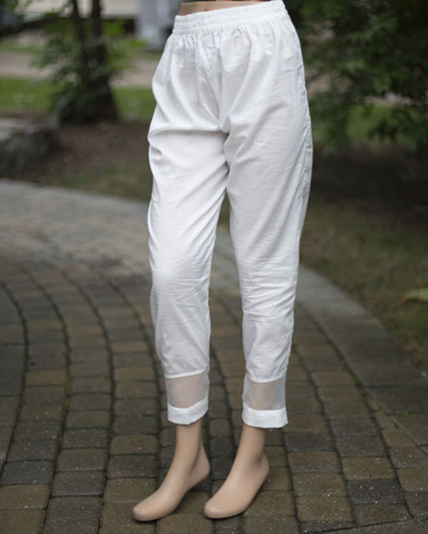 Nishat White Trouser