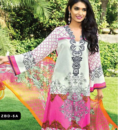 Zeniya white embroidered lawn
