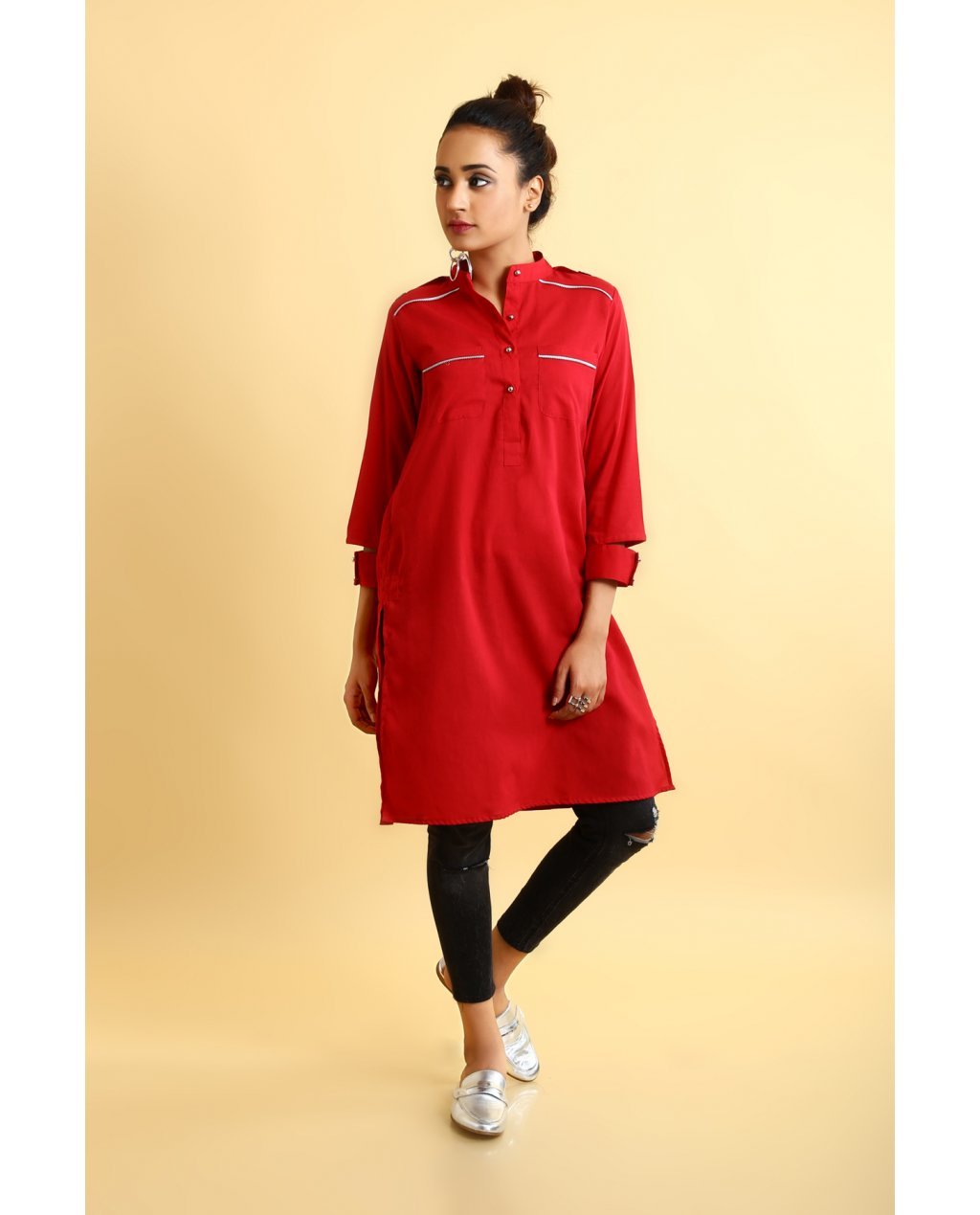 ego red shirt ready to wear eid collection