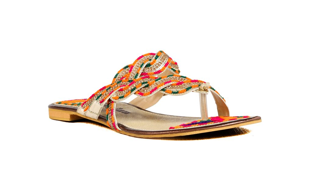 Borjan Multi Color Chappals For Eid