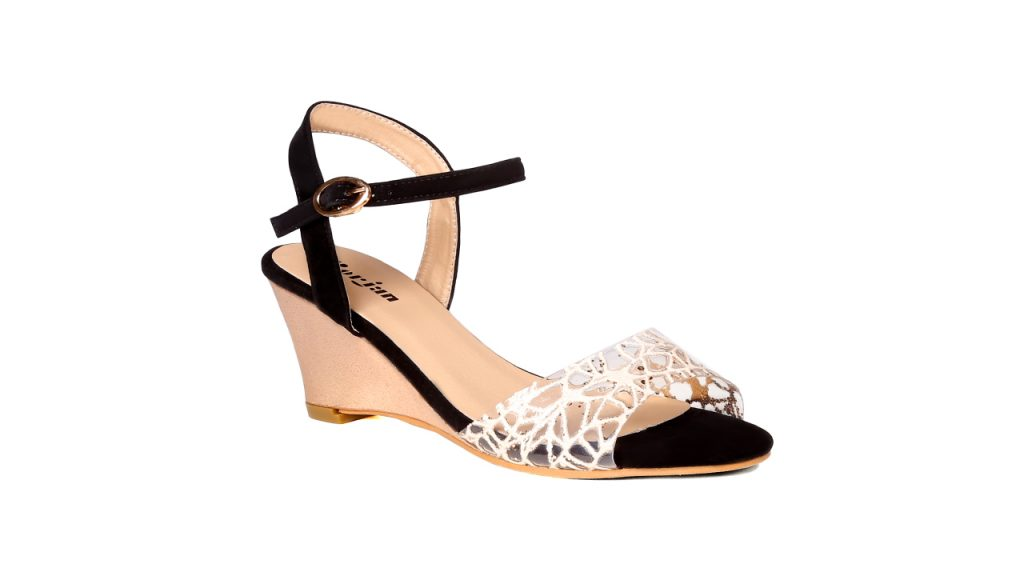 Borjan Trendy Black Wedges For Eid