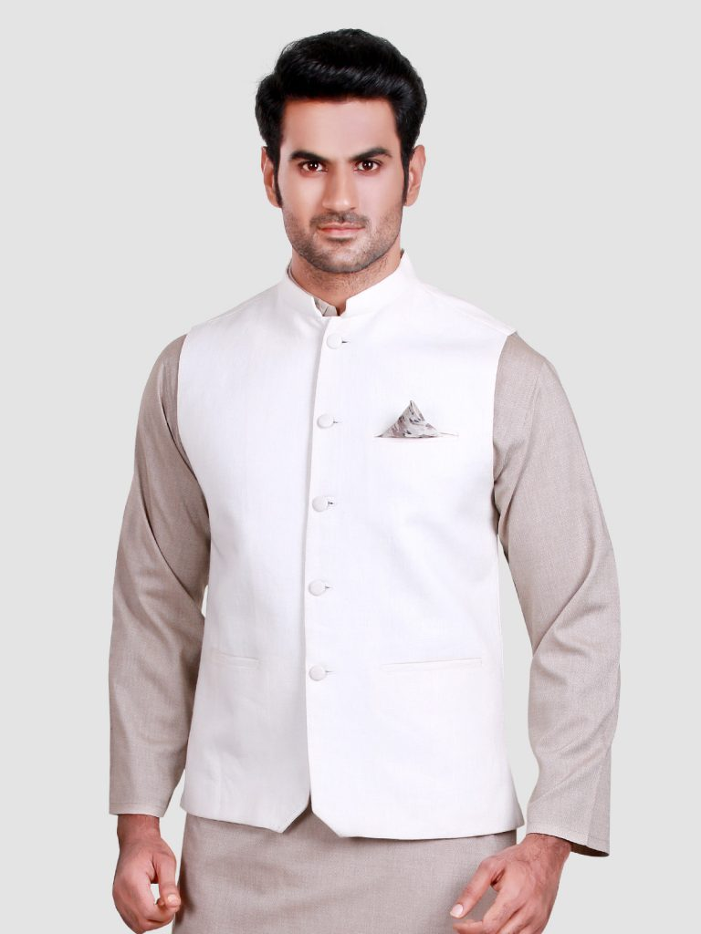 EdenRobe white waist coat