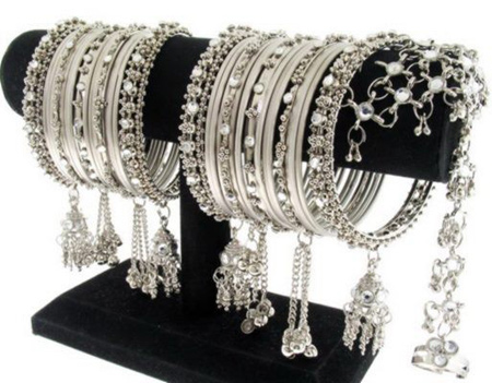 Grey Fancy bangles Design
