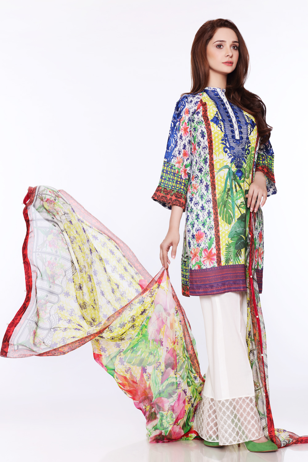 Juggan's Glided Glamous Unstitched 3-piece lawn