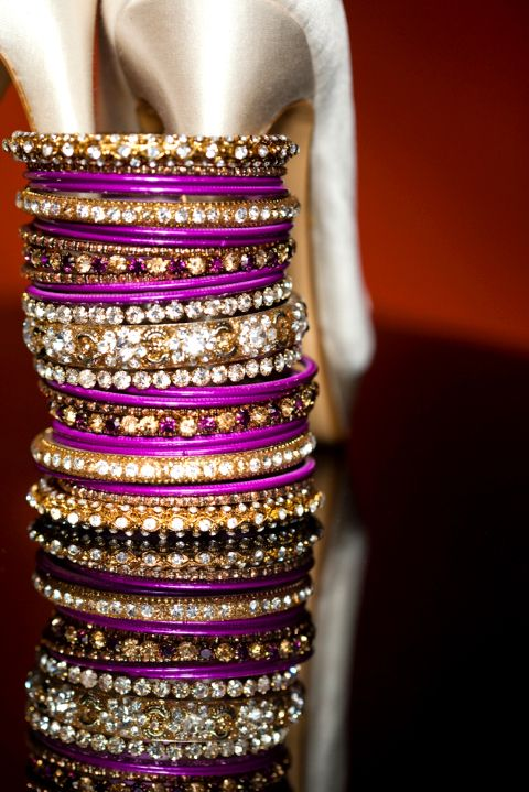Purple Fancy bangles Design