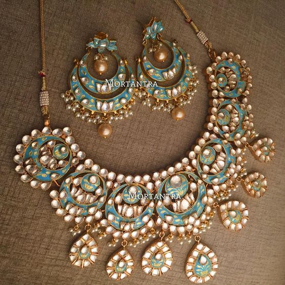 Blue Gold Meenakari Collection