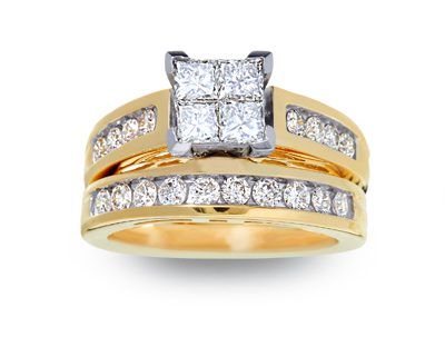 Quad Cut Engagement Ring