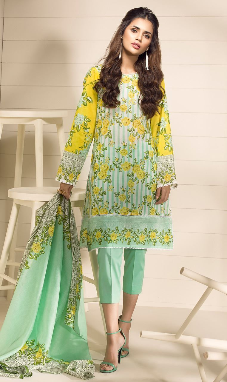 Lime green Orient Sawan Collection