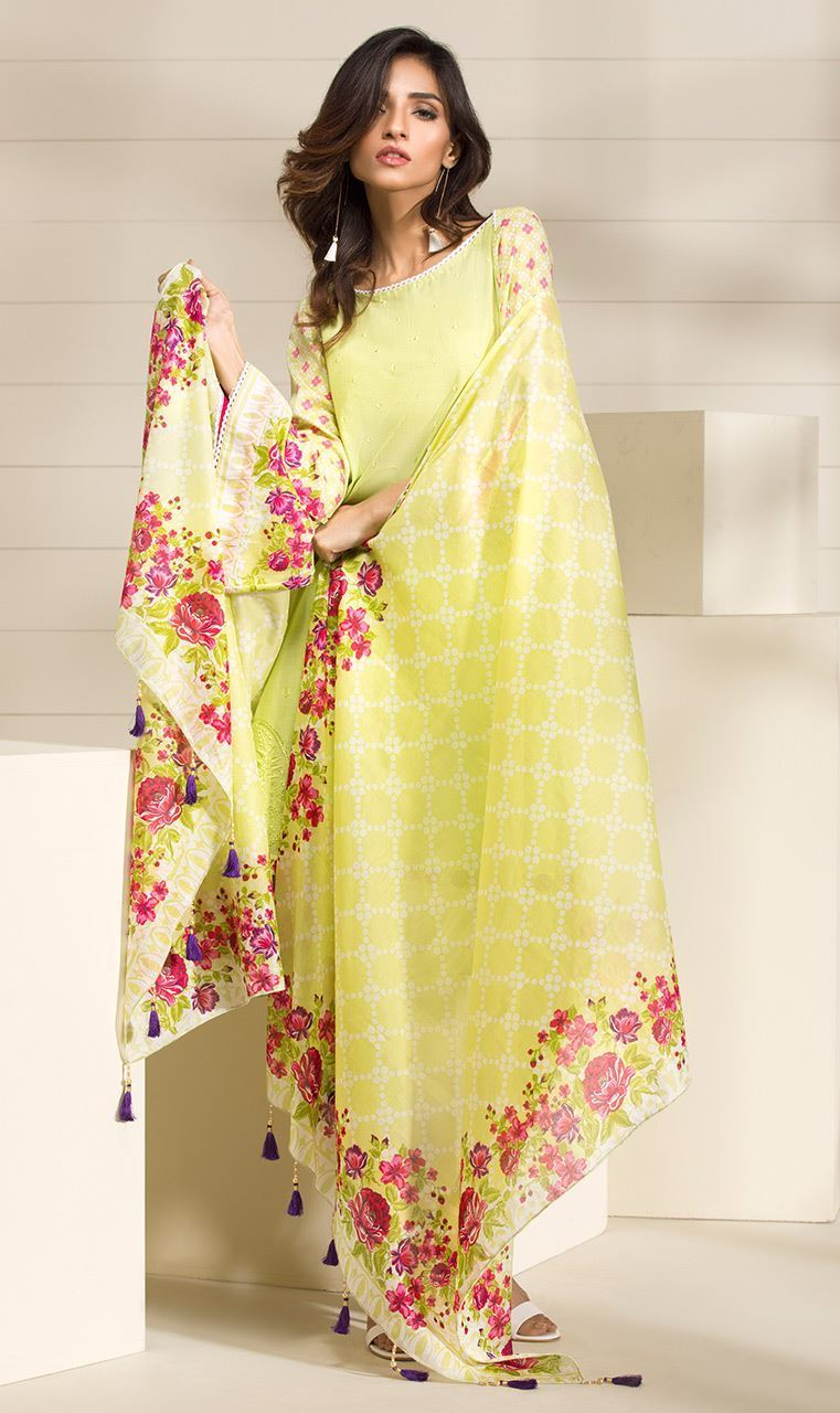 Yellow Latest Orient Sawan Collection