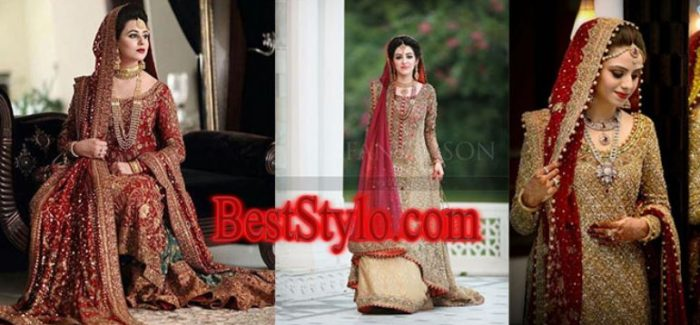 Latest Pakistani Bridal Dresses in Red For 2018