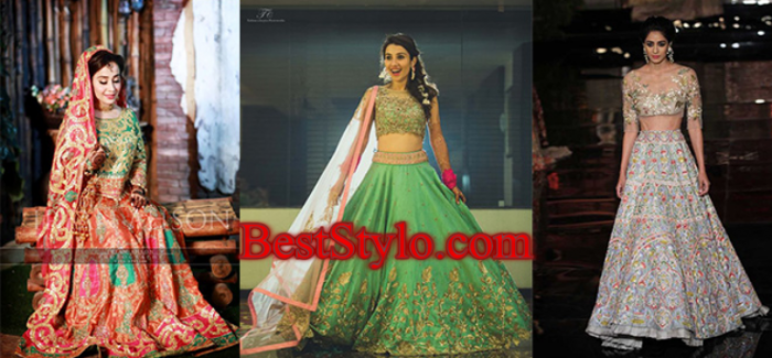 Latest Crop Top Lehnga Designs for Brides 2018