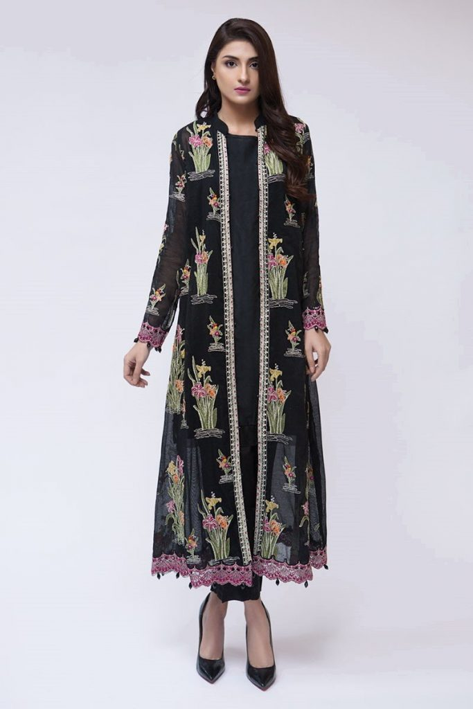 Maria B Latest Evening Wear Dresses Black Suit