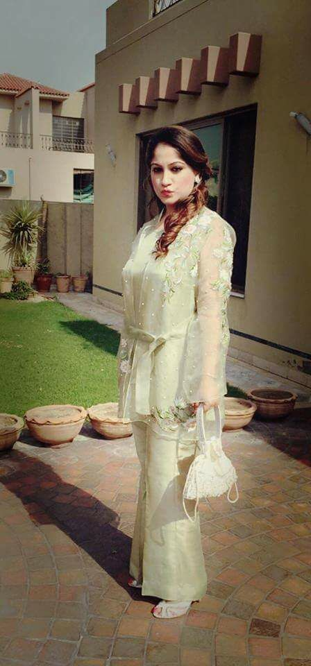 Pakistani Dresses With Bell Bottom Trouser for parties