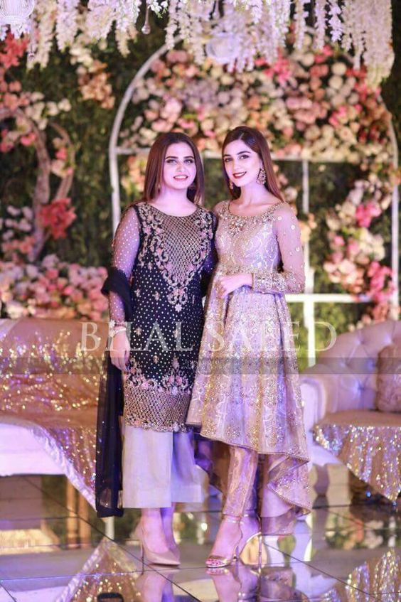 Pakistani Dresses With Bell Bottom Trouser for wedding