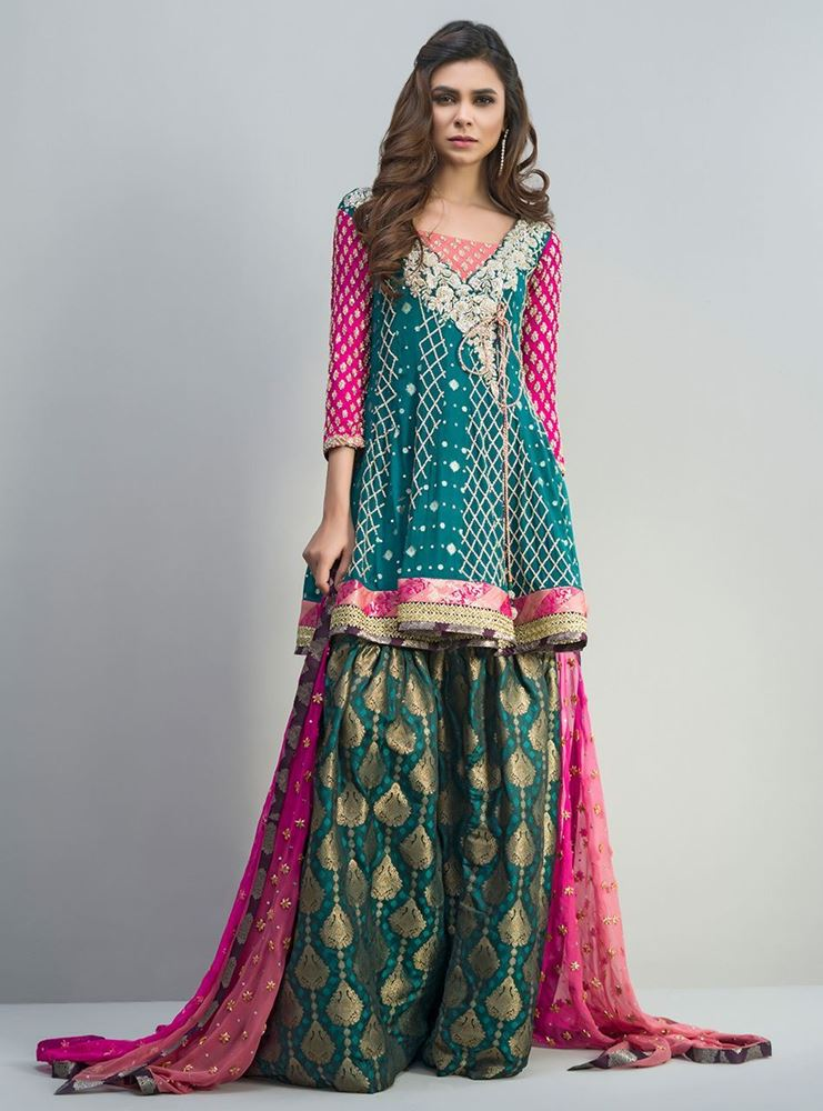 Zainab Chottani New Formal Dresses emerald green peplum