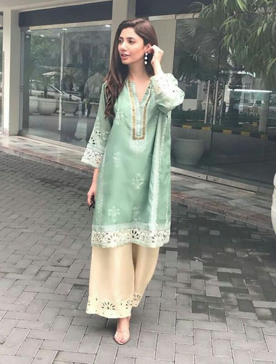 Pakistani Boutique Style Dresses green fancy shalwar kameez