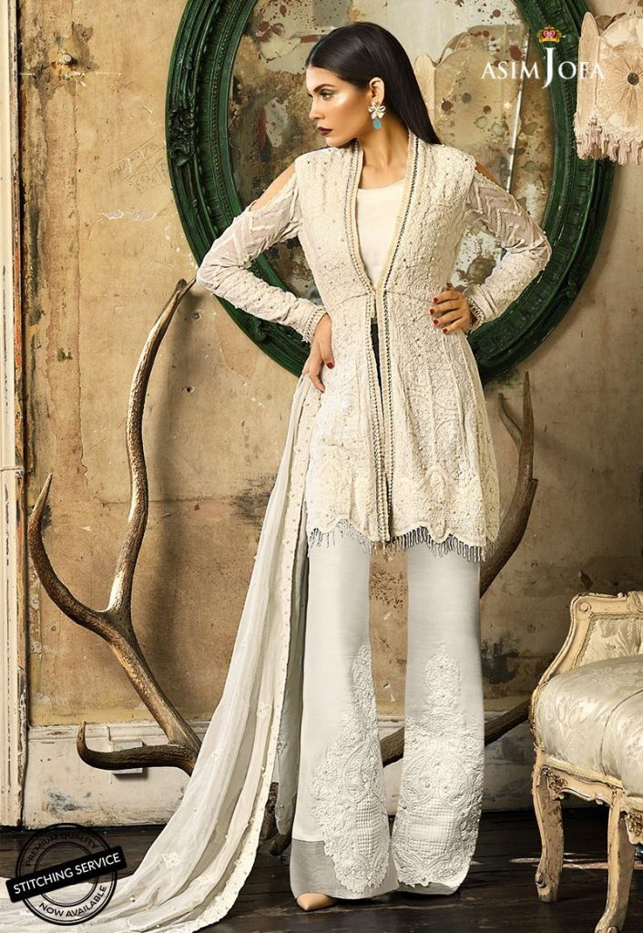 Asim Jofa Aritanka Cream Embroidered For Eid