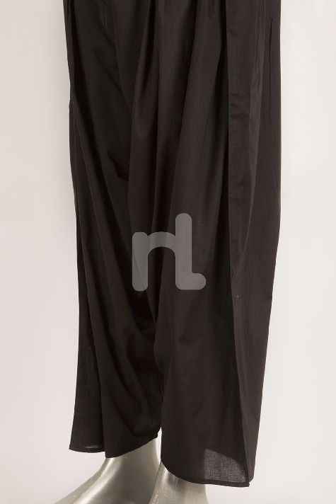 Nishat Black Dyed Cambric Shalwar for Women