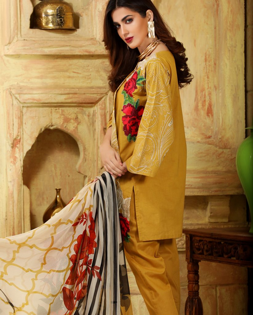 Nimsay Luxury Embroidered Dress For Eid