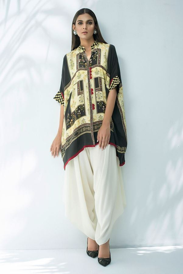 Sania Maskatiya digitally-printed-crepe-shirt For Eid