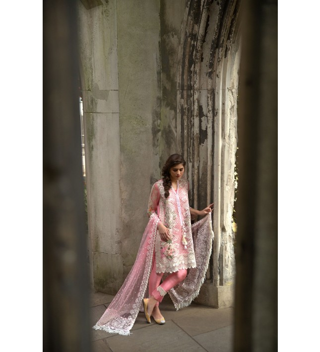 Sobia Nazir Shocking pink Falak Luxury Eid Chiffon