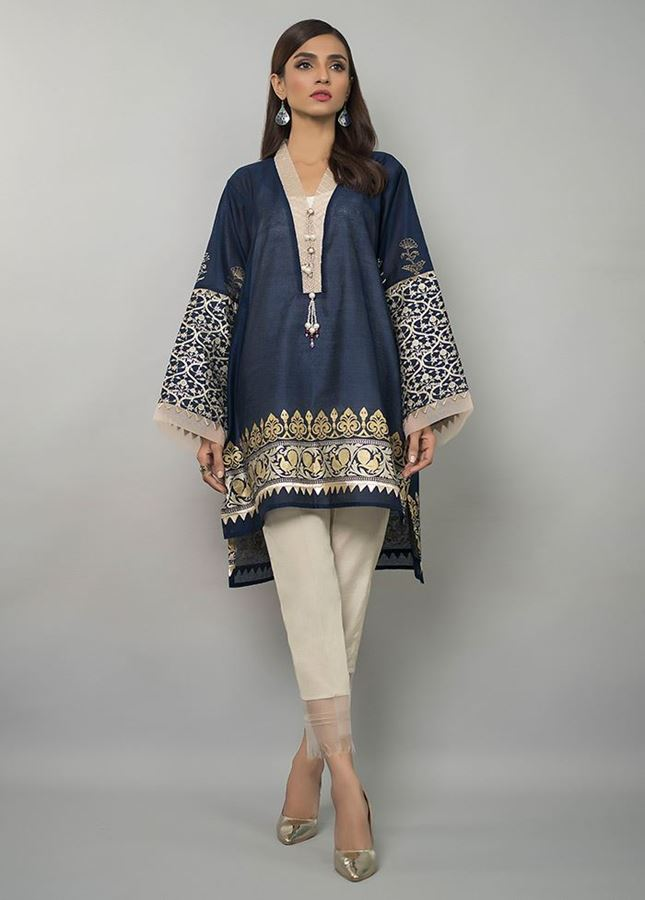deepak perwani blue embroidered for eid