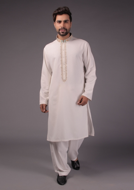 Amir Adnan off white Shalwar Suit For Eid