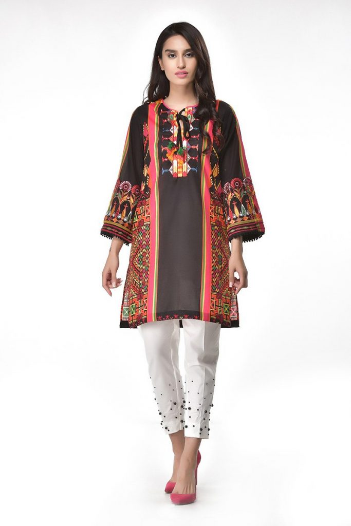 Ethnic Black Lawn botique Shirt