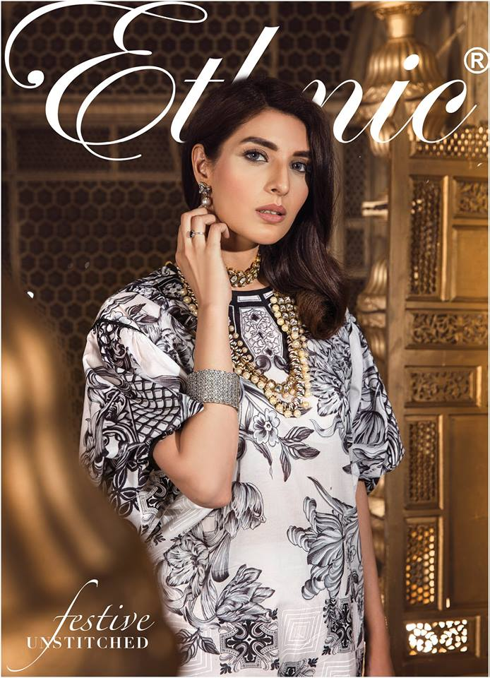 Ethnic Festive Unstitched 3pc for Eid