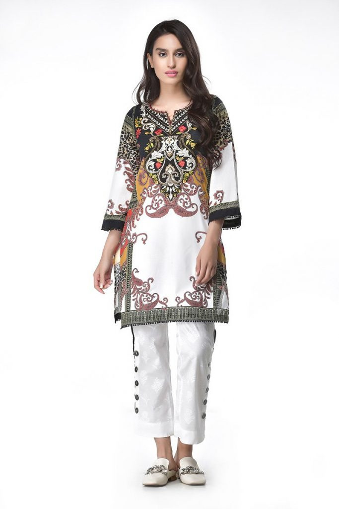 Ethnic White Lawn Botique Shirt