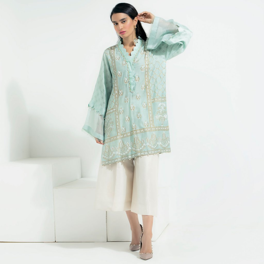 Saira Shakira Sea Breeze Luxuiy Pret For Eid