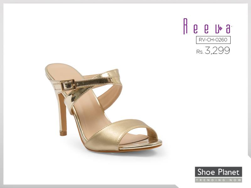 Shoe Planet Gold heels For Eid