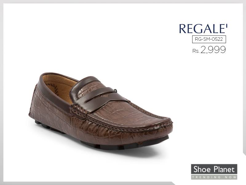 Shoe Planet brown casual moccassin for eid