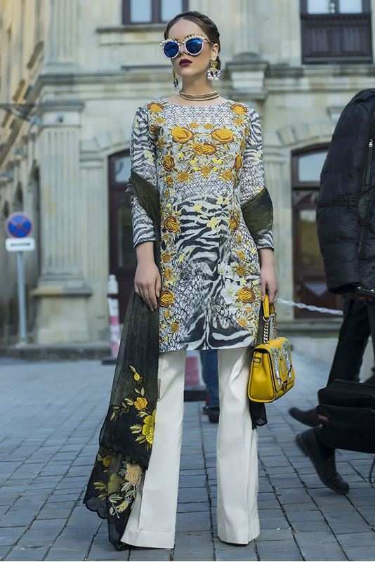TM Yellow printed Eid Outfit