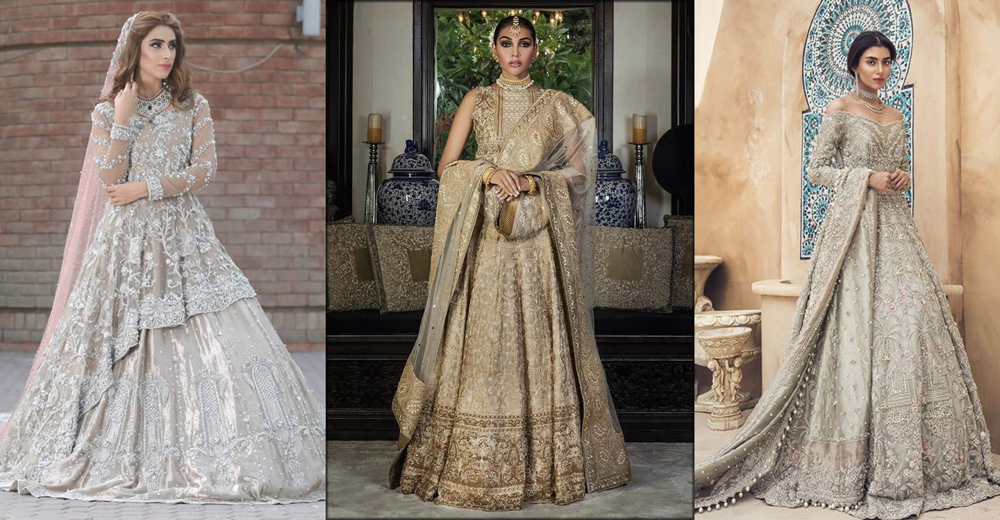 Pakistani walima dresses for brides